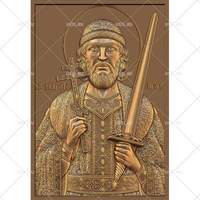 STL модель для ЧПУ Икона Святой благоверный князь Игорь RL-16