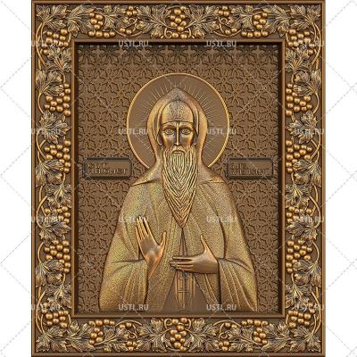 STL модель для ЧПУ Икона Святой князь Олег Брянский RL-47