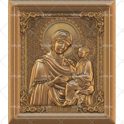 STL модель для ЧПУ Икона Тихвинская Пресвятая Богородица RL-70