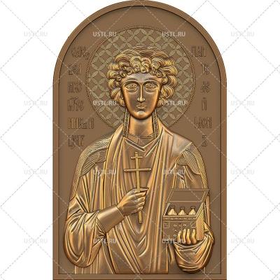 STL 3D модель Икона Великомученик Пантелеимон целитель RL-149 для ЧПУ и печати