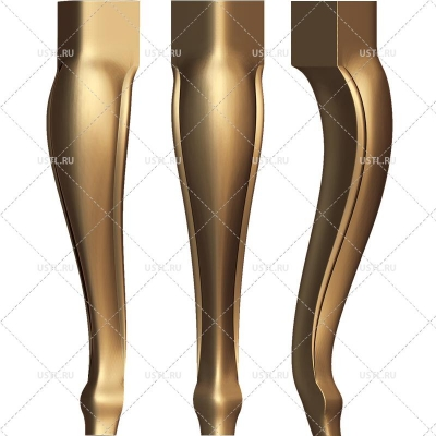 STL модель для ЧПУ Ножка мебельная MB-51