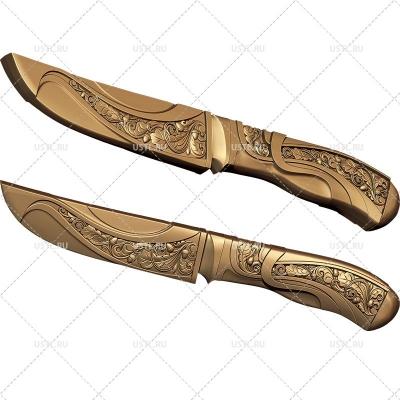 STL модель для ЧПУ Охотничий нож RK-03