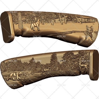 STL модель для ЧПУ Рукоять ножа RK-05
