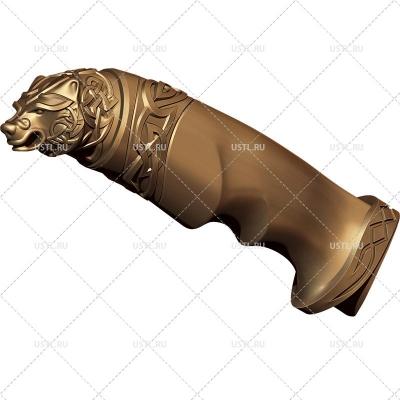 STL модель для ЧПУ Рукоять ножа Медведь RK-08