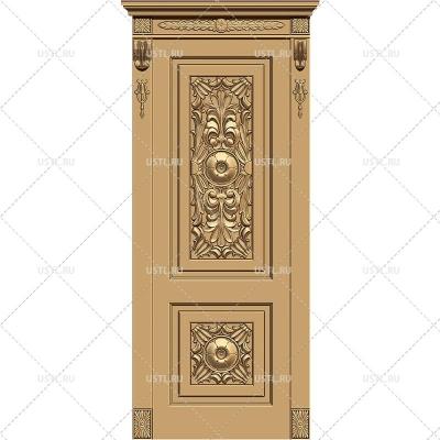 STL модель для ЧПУ Дверь резная DV-06