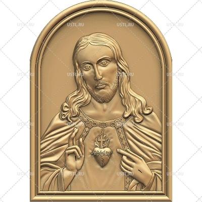 STL модель для ЧПУ Сердце Иисуса RL-268