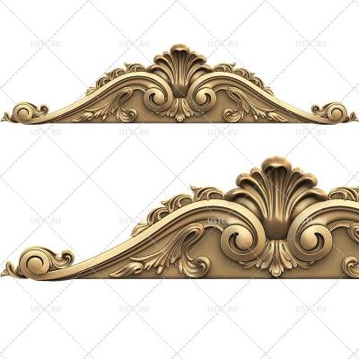 STL модель для ЧПУ Декоративная накладка корона N-352