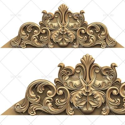 STL модель Декоративная накладка корона N-362 для ЧПУ и печати