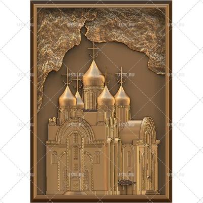 STL модель для ЧПУ Панно Церковь RL-280