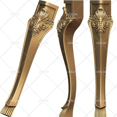 STL модель для ЧПУ Ножка мебельная MB-107