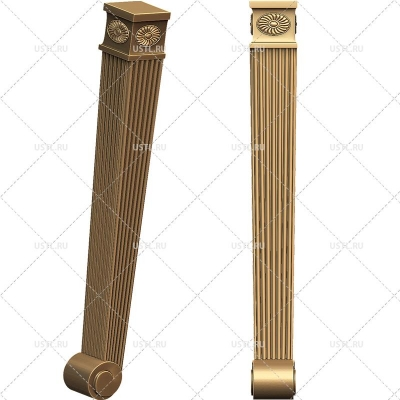 STL модель для ЧПУ Ножка мебельная MB-125