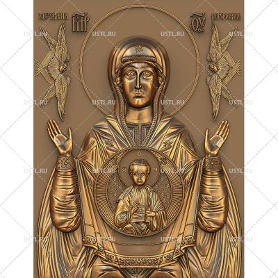STL модель для ЧПУ Икона Божией Матери Знамение RL-157