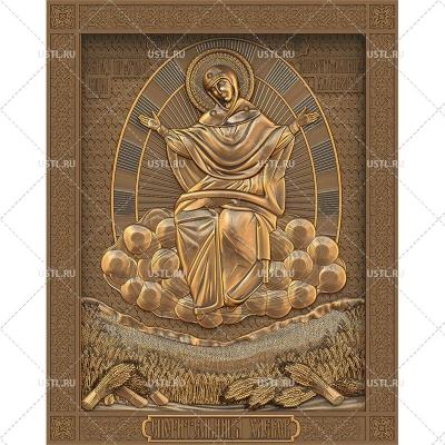 STL модель для ЧПУ Икона Божией Матери Спорительница хлебов RL-165