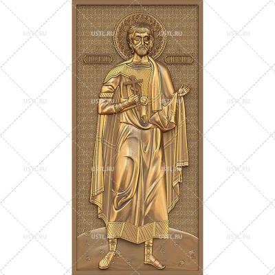 STL модель для ЧПУ Икона Святой Мученик Анатолий RL-171