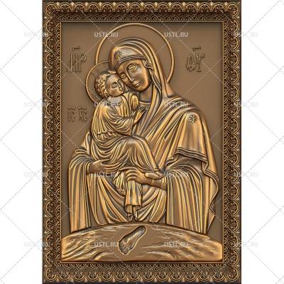 STL модель для ЧПУ Почаевская икона Божией Матери RL-178