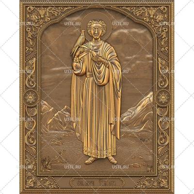 STL модель для ЧПУ Икона Святой мученик Трифон RL-188