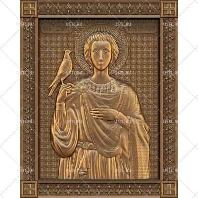 STL модель для ЧПУ Икона Святой мученик Трифон RL-189