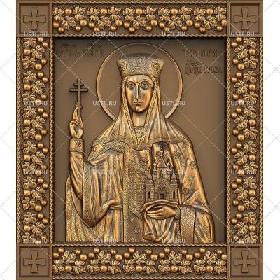 STL модель для ЧПУ Икона Святая царица Тамара RL-192
