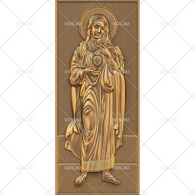 STL модель для ЧПУ Икона Дева Мария RL-193