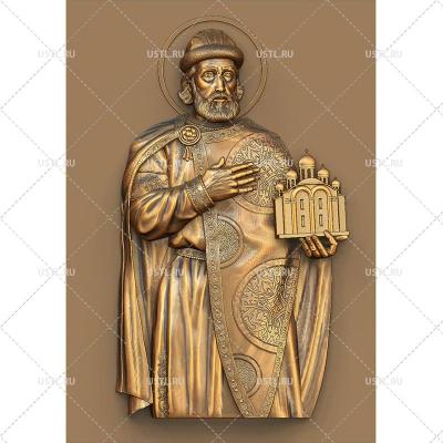 STL модель для ЧПУ Икона святой Ярослав Мудрый RL-194