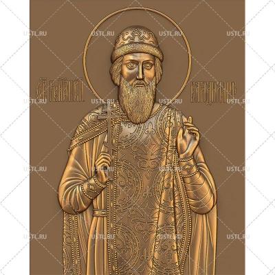 STL модель для ЧПУ Икона Святой князь Владимир RL-195