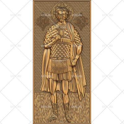 STL модель для ЧПУ Икона Святой мученик Виктор RL-214