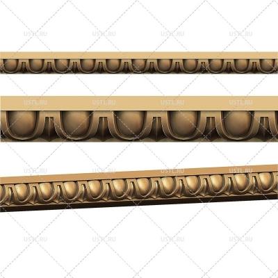 STL модель для ЧПУ Декоративный багет ML-107