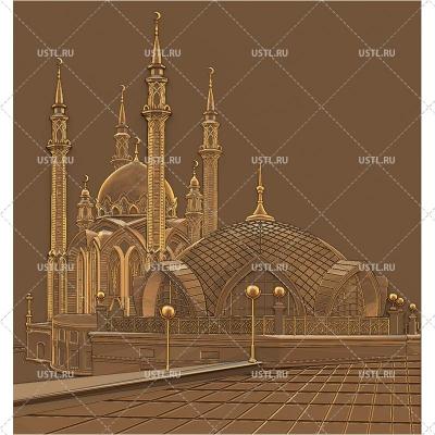 STL модель для ЧПУ Панно Мечеть Кул-Шариф PN-267