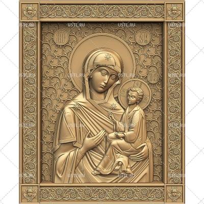 STL модель для ЧПУ Тихвинская икона Божией Матери RL-289