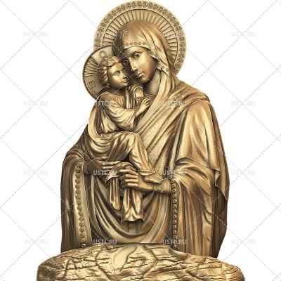 STL модель для ЧПУ Почаевская икона Божией Матери RL-307