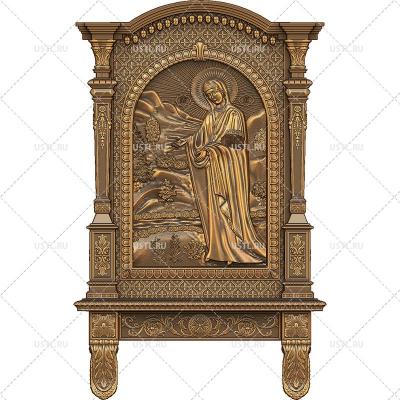 STL модель для ЧПУ Икона Божией Матери У Источника Пюхтицкая RL-228