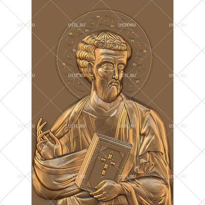STL модель для ЧПУ Икона Святой Апостол и Евангелист Лука RL-231