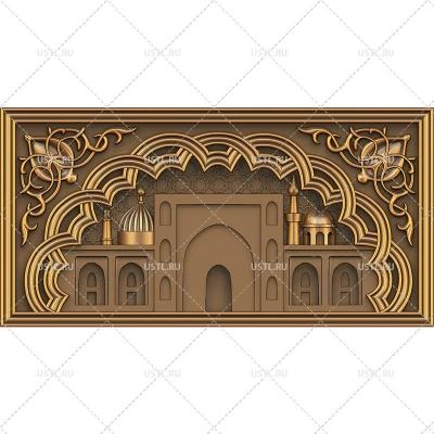 STL модель для ЧПУ Панно Мечеть RL-237