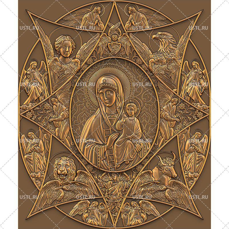 Икона Неопалимая Купина | stl - 3d модель: ustl.ru/ikona-neopalimaya-kupina