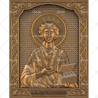 STL модель для ЧПУ Икона Великомученик Пантелеимон целитель RL-241