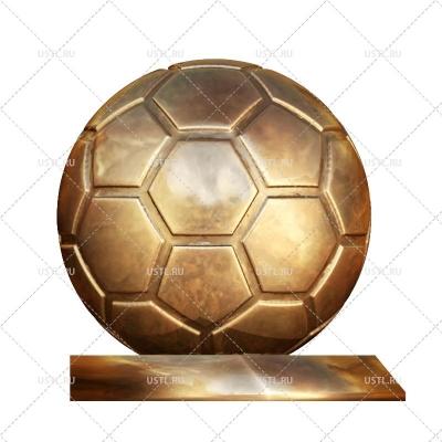 STL модель для ЧПУ Статуэтка Футбольный мяч ST-37
