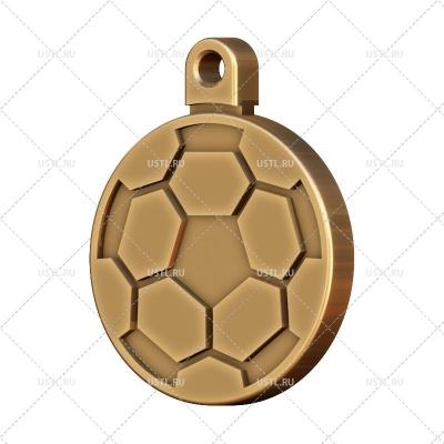 STL модель для ЧПУ Брелок Футбольный мяч SV-60