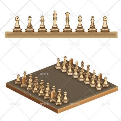 3D модель в STL формате Шахматы Классические NR-59 для ЧПУ