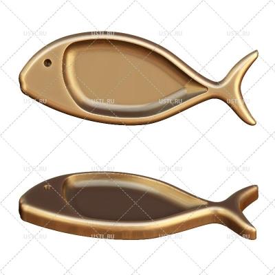 3D модель в STL формате Тарелка-Менажница Рыба PS-9 для ЧПУ