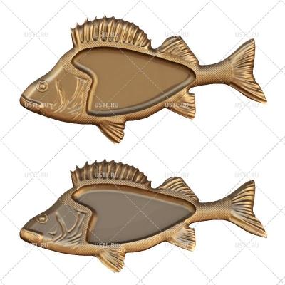 3D модель в STL формате Тарелка-Менажница Рыба PS-10 для ЧПУ