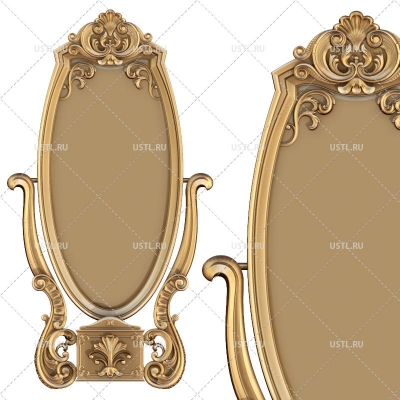 STL модель для ЧПУ Рама под зеркало RM-353