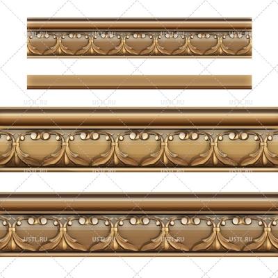 STL модель для ЧПУ Декоративный багет ML-226
