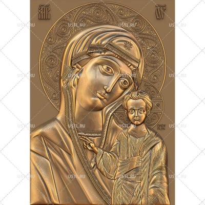 STL модель для ЧПУ Казанская икона Божией Матери RL-242
