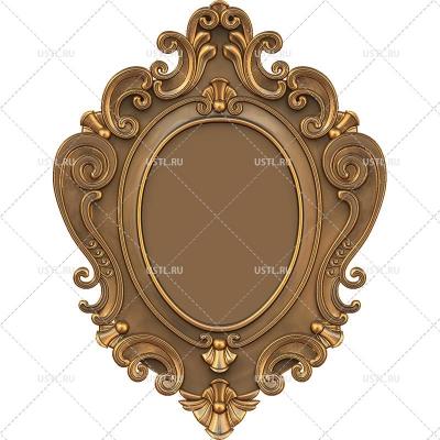 STL модель для ЧПУ Рама зеркало RM-123