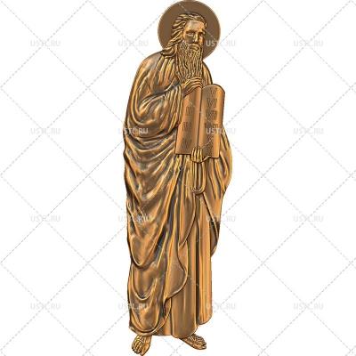 STL модель для ЧПУ Святой Пророк Моисей RL-253